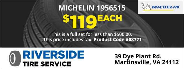 Michelin 1956515, $119 Each