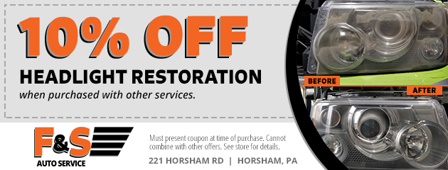10% Off Headlight Restoration
