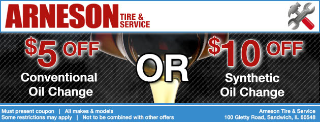 $5 or $10 off Oil change