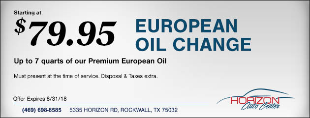 European Oil Change Special