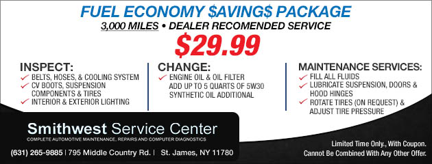 Fuel Economy $aving$ Package