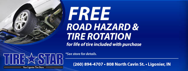Free Road Hazard & Tire Rotation