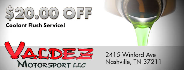 $20 Off Coolant Flush Service!