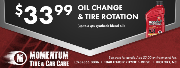 $33.99 Oil Change & Tire Rotation