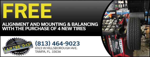 Free Alignment and Mounting & Balancing with Purchase of 4 Tires