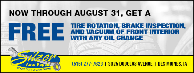 Free Tire Rotation, Brake Inspection, and Vacuum.