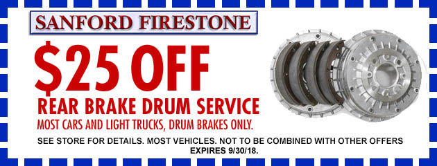 $25 off Rear Brake Drum Service