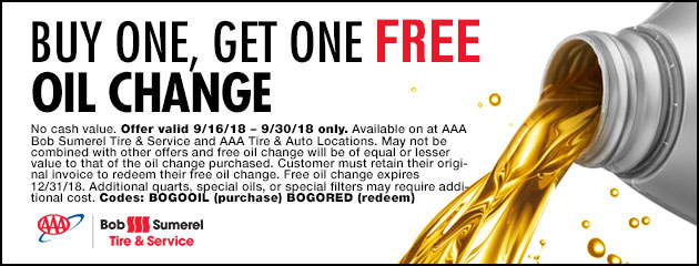 Buy One, Get One Free Oil Change