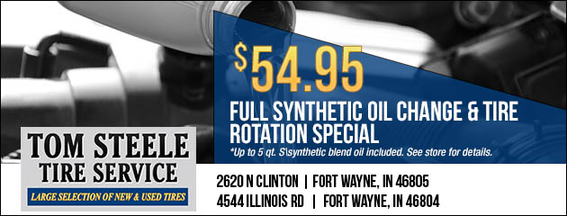 Full Synthetic Oil Change And Tire Rotation Special