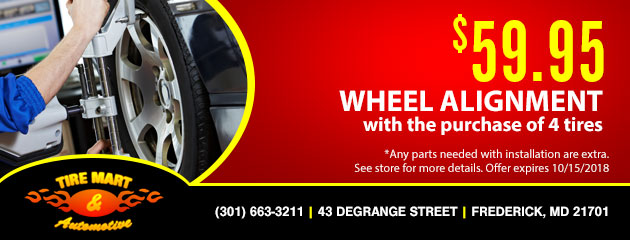 $59.95 Wheel Alignment