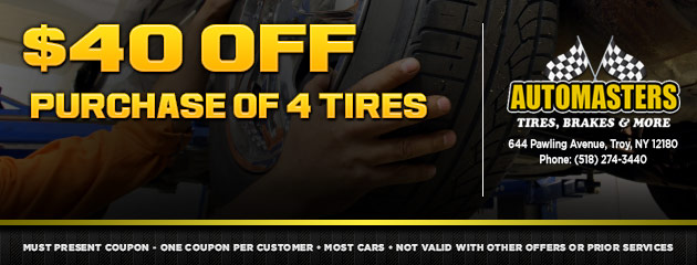 $40 Purchase Off 4 Tires Coupon