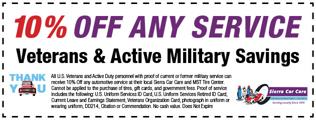 Veteran's Savings Special