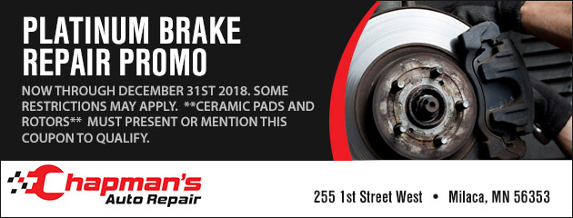 Platinum Brake Repair Promo