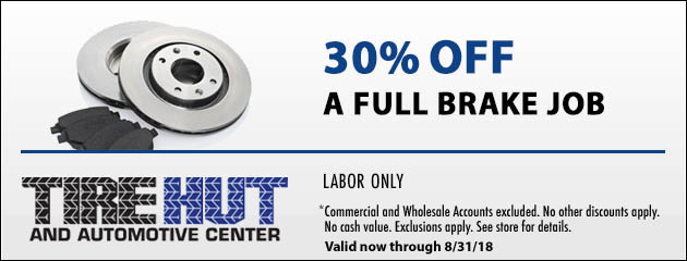 30% Off a Full Brake Job