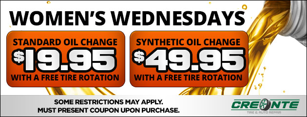 Women's Wednesday Oil Change Special