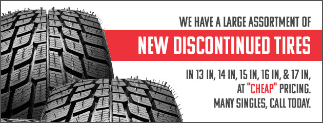 Call about Discounted Discontinued Tires