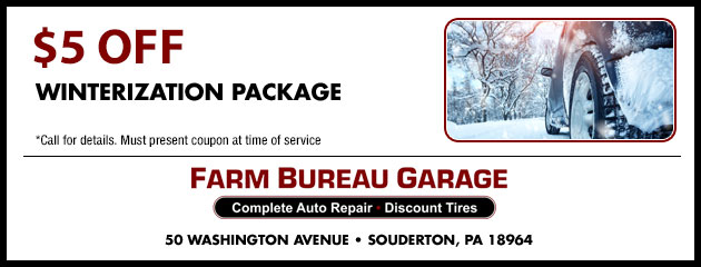 $5 off Winterization Package