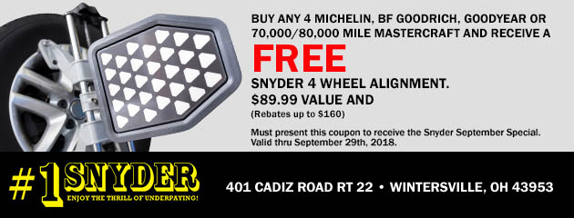 Free Alignment w/ Purchase of Select Tires