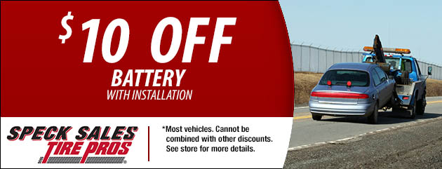$10 Off Battery with Installation