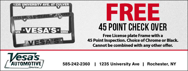 FREE 45 Point Check Over