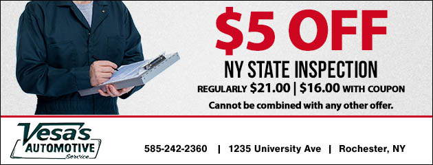 State Inspection Coupon >> Coupons Savings At Vesa S Automotive Service Inc Save On