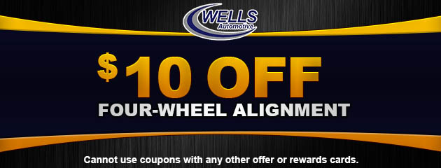 $10 Off Four-Wheel Alignment