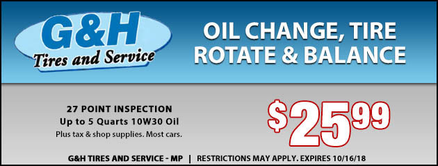Oil Change, Tire Rotation And Balance