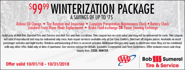 $99.99 Winterization Package