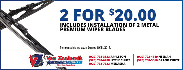 2 for $20 Wiper Blades