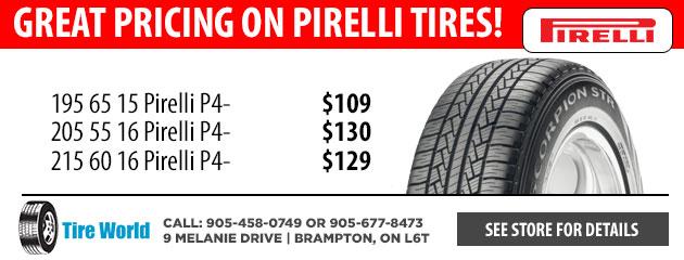 Tire Specials Brampton On Mississauga On Toronto On Tire World