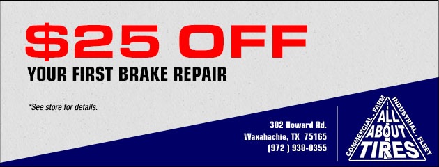 $25 Off Your First Brake Repair