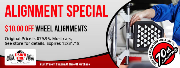 $10 Off Wheel Alignments