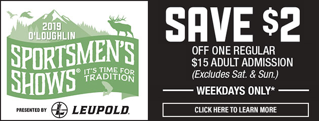Save $2 on admission to the 2019 Sportsmen's Shows