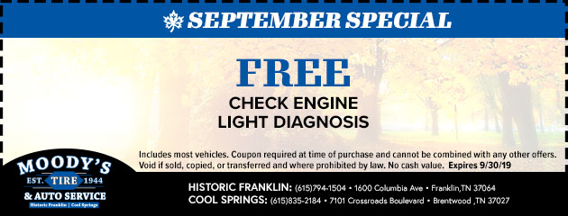 Free Check Engine Light Diagnosis