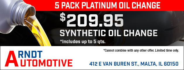 5 Pack Platinum Oil Change for $209.95