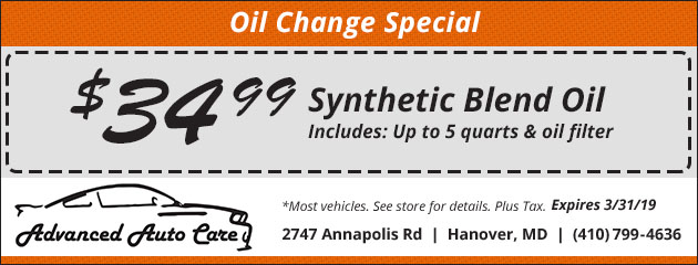 Synthetic Blend Oil Change Special