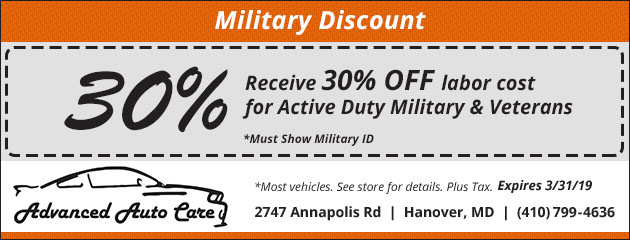 30% Off Labor Cost for Active Duty Military and Veterans
