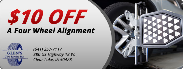 $10 Off a Four Wheel Alignment