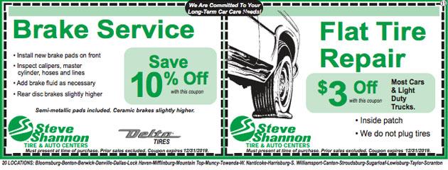 Steve Shannon Tire Auto Center Bloomsburg Pa Tire Auto Repair Shop