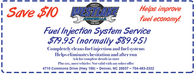 $79.95 Fuel Injection System Service
