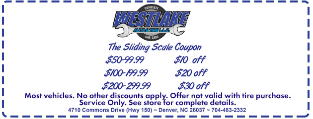 Sliding Scale Coupon