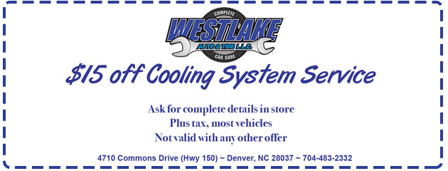 $15 OFF Cooling System Service