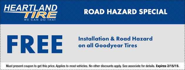 Free Installation and Road Hazard
