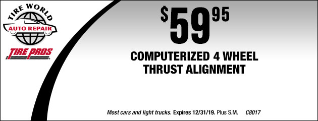 $59.95 Four (4) Wheel alignment