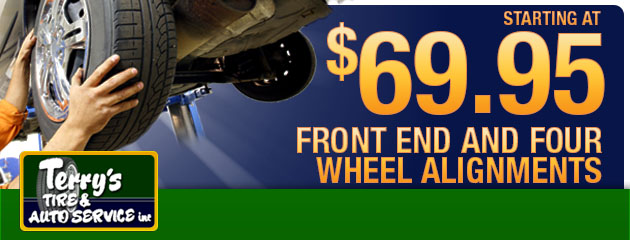 $69.95 Front End & Four Wheel Alignments