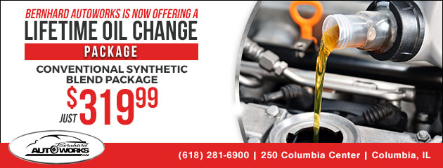 Synthetic Blend Lifetime Oil Change Package