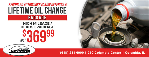 High Mileage Lifetime Oil Change Package
