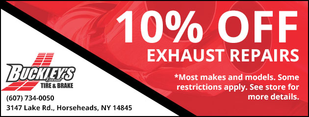 10% Off Exhaust Repairs