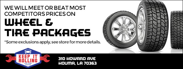 We will meet or beat most competitors prices on wheel & tire packages