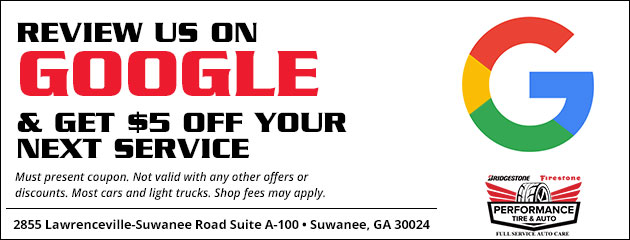 Review Us On Google & Receive $5.00 Off Your Next Service